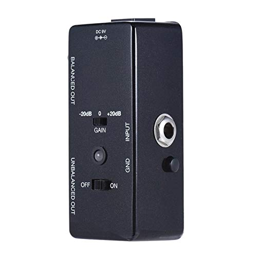 QuRRong Guitar Effect Pedal Guitar Effect Pedal Transfers Guitar/Bass Signal Directly To Audio System Aluminum Alloy Body for Practice (Color : Black, Size : 3.8 x 9.5 x 3.2cm)