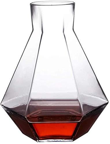 Jugs Cool Water Bottle Home Glass Frío Agua Copa Desayuno Leche Leche Jugo Pot Decanter Estante de vino Cocina Vajilla Suministros 1.2L Resistente al calor (Color: Claro, Tamaño: 6.5 * 19.5cm) / Códig