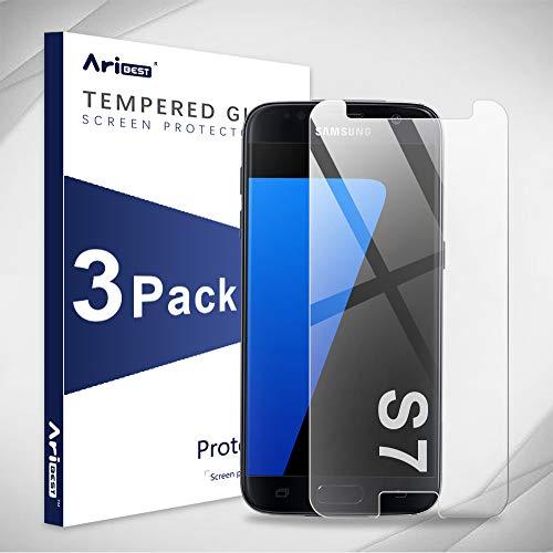 Aribest Galaxy S7 Panzerglas Schutzfolie, 3 x 9H Härte,Anti-Öl, Panzerglasfolie Displayschutzfolie Für Samsung Galaxy S7 -Transparent