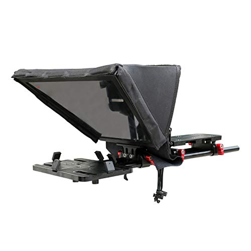 Proaim Universal Professional Teleprompter Kit for iPad/Tablet/Tab/Smartphone/iPhone/DSLR Video Camera Camcorder for Film & Video Production, Online & Social Media Videos   Free Hard Case (P-TP300)