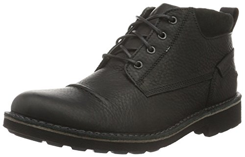 Clarks Herren Lawes Top Kurzschaft Stiefel, Schwarz (Black Warm Lined Leather), 44 EU