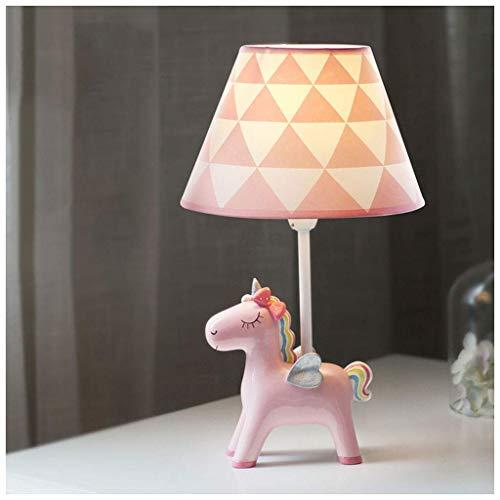 Lámparas de escritorio Habitación para niños Unicornio de dibujos animados Lámpara de mesa Dormitorio Lámpara de noche Creativa Cálida Romántica Linda niña Niño Decoración Lámpara de mesa pequeña