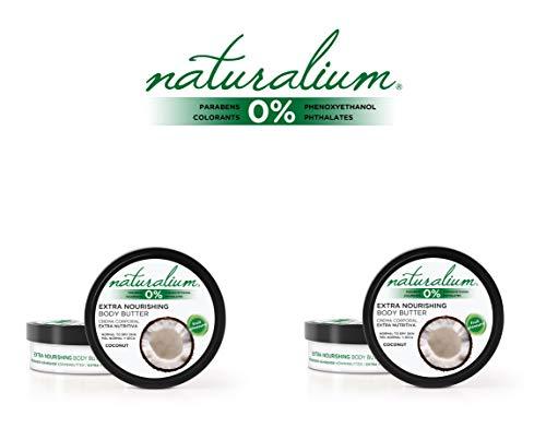 Naturalium PACK Crema Corporal Coco - Set Cremas Corporales, 2 de 200 ml
