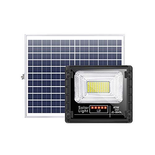 LEDソーラー投光器 40W光センサーフラッドライト 自動点灯 電量表示インジケーターあり パネル分離 10000mah大容量バッテリー 110LED IP67防水 ソーラーセーフティライト 高輝度 昼白色 長距離照射 リモコン付き