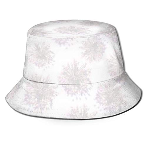 Henry Anthony Unique Bucket Hat Fisherman Golf Hat Foldable Cap Sun/Rain Shield Print Background Delicate Pink Flowers Trampoline