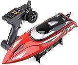 Nixi888 2,4 GHz de control remoto de RC Boat Competitive Rowing hídrico eléctrico barco juguete de alta velocidad Speedboat modelo submarino for 6+ niño sorpresa regalo de Navidad