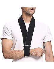 supregear Arnés para el Brazo, Soporte para Cuello Ligero Inmovilizador Soporte para el Brazo Simple Soporte para el Hombro Transpirable para Lesionado Brazo/Mano/Codo Arm Sling - Negro