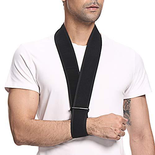 SupreGear Arm Sling, Lightweight Neck Support Collar Immobilizer Simple Arm Sling Breathable Medical Shoulder Support for Injured Arm/Hand/Elbow