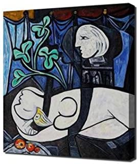 Pablo Picasso - Nude Green Leaves And Bust Framed Canvas Art Print Reproduction