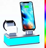 Wireless Charger, VMEI 7 in 1 Wireless Charging Station Compatible with iWatch, AirPods Pro,iPhone,Galaxy Phone.with Table Lamp for Bedroom, Living Room,Office.USB C Charger(Gray)