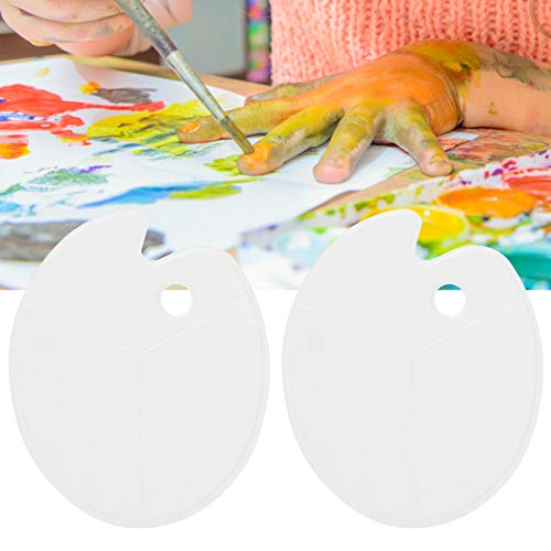 Paleta do malowania, 2 szt. Paleta farb akwarelowych Paleta farb, plastikowa paleta farb akrylowy gwasz do malowania akwarelą olejną