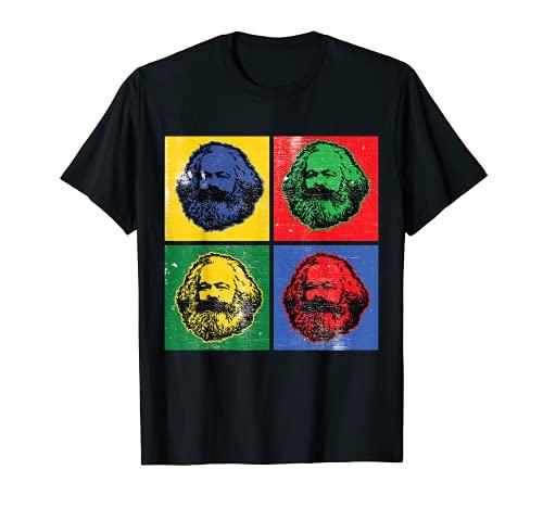 Karl Marx Vintage Retro Pop Art Para Socialismo Política Camiseta