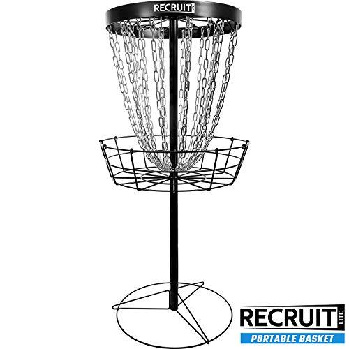 Dynamic Discs Recruit Lite Disc Golf Target | Frisbee Golf Basket | 24 Chain Portable Disc Golf Basket | Easy Assembly & Lightweight