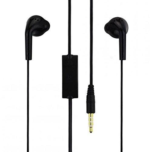 ORIGINALE SAMSUNG Head Set in Nero per S5360Galaxy Y Cuffie Auricolari a forma di tappi per le orecchie 3,5mm spina Stereo Sound samhb5