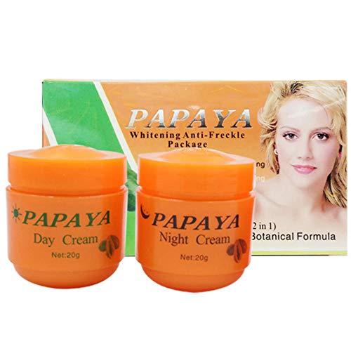 2 Stücke Papaya Gesichts Whitening Skin Care Feuchtigkeitscreme Anti-Sommersprossen Natürliche Whitening Cream Tag Nachtcreme Gesichtspflege von ROMANTIC BEAR