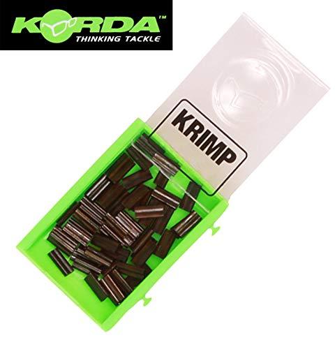 Korda Spare Krimps - Klemmhülsen für Karpfenmontagen, Quetschhülsen für Karpfenrigs, Crimphülsen für Rigs zum Karpfenangeln, Durchmesser:0.6mm
