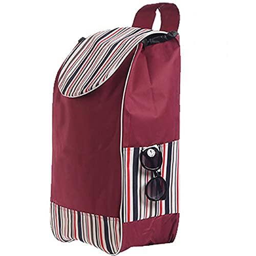 Carretilla Bolso a prueba de agua de la tela Oxford, bolso de la carretilla con bolsillos laterales, bolso de carro con bolsillo con cremallera en la parte posterior, bolso de la carretilla de compras