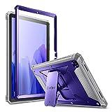 FINTIE Funda para Samsung Galaxy Tab A7 10.4' 2020 - Carcasa Dura Antichoque con Soporte y Protector de Pantalla Incorporado para Modelo SM-T500/T505, Azul Marino