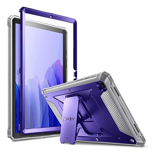 Fintie Funda Compatible con Samsung Galaxy Tab A7 10.4' 2020 - Carcasa Dura Antichoque con Soporte y Protector de Pantalla Incorporado para Modelo SM-T500/T505, Azul Marino
