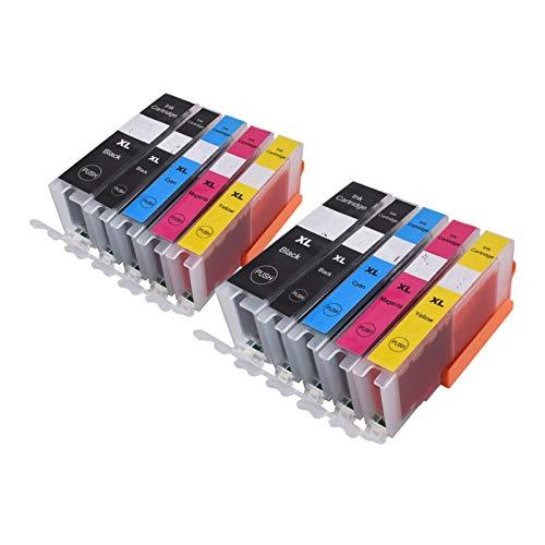 CMDZSW 570571 PGI-570 CLI-571 Cartucho de Tinta Compatible para PIXMA MG5750 MG5751 MG5752 MG6850 MG6851 MG6852 TS6050 TS5050 5051 (Color : 2PGBK 2BK 2C 2M 2Y)