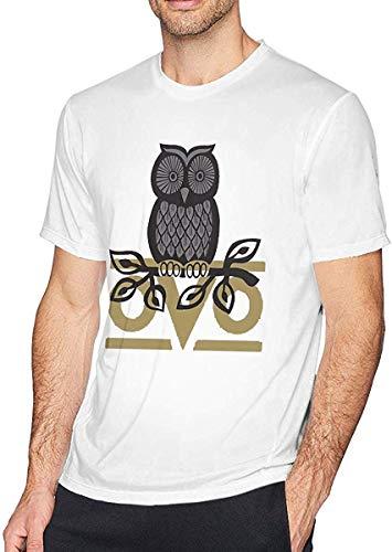 OVO Owl Cotton Herren T-Shirt Mode mit kurzen Ärmeln Herren T-Shirts Schwarz