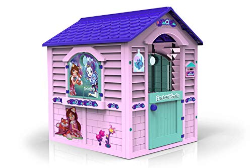 Chicos Casita Infantil de Exterior Enchantimals, Color Rosa con tejado Morado...