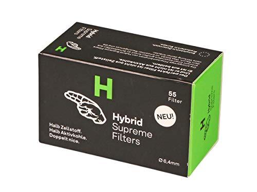 Hybrid Supreme Filters Zellstoff/Aktivkohle, Weiß, Durchmesser- 6.4mm