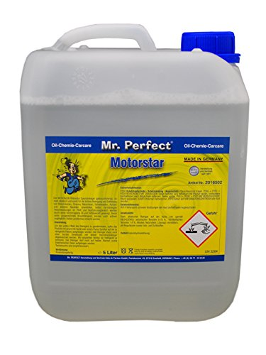Mr. Perfect® Motorstar, 5L - Limpiador de motores y equipos, limpiador de piezas para eliminar el aceite, la grasa y el hollín