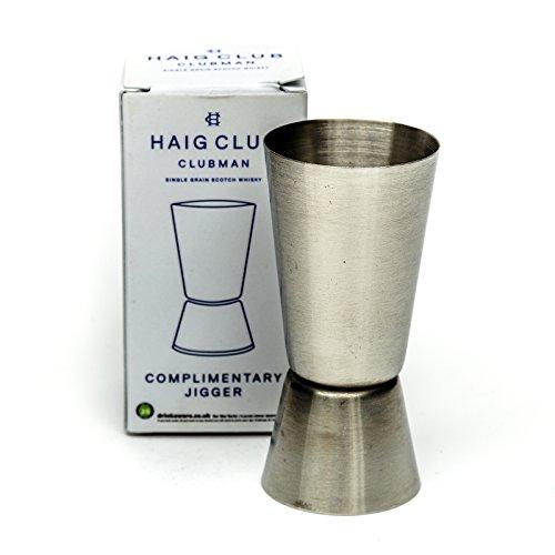 Haig Club Whisky Acero Inoxidable Medidor de Alcohol Medida 25ml 50ml Cóctel Hogar Pub Barra
