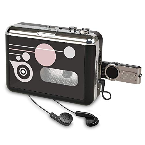 convert tapes Cassette Player, Portable Converter Recorder Convert Tapes to Digital MP3 Save into USB Flash Drive/No PC Required