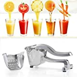 Manual Juicer Handheld Juice Press Squeezer Aluminum Fruit Juicer Extractor for Home Kitchen