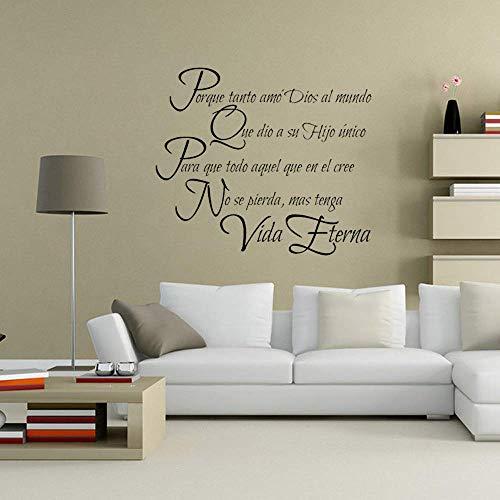 Proverbio español Vinilo DIY Pegatinas de pared Decoración para el hogar Sala de estar Dormitorio Aplique de pared Mural de arte 67x58cm