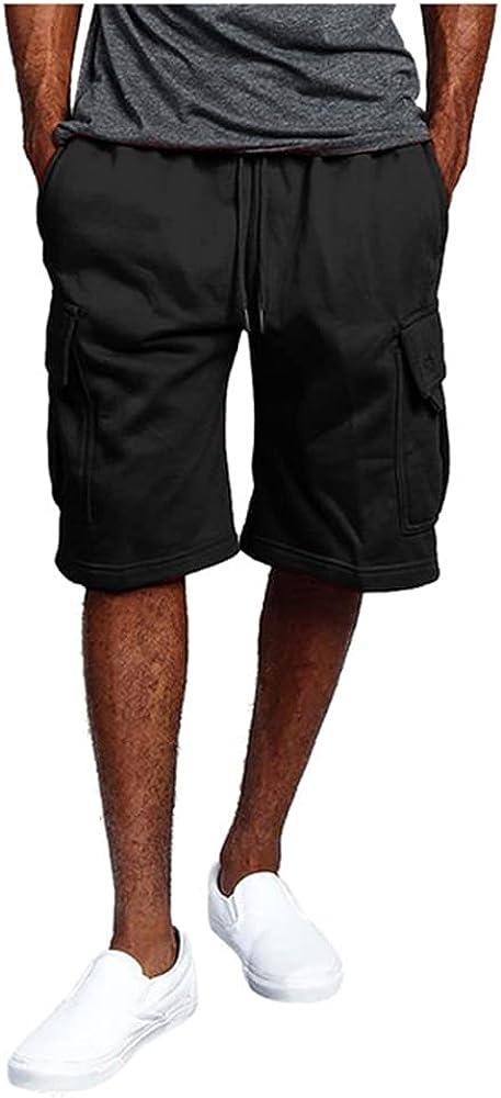 Male Shorts Multi Summer Loose Zipper Breeches Khaki Grey Short Pant Casual