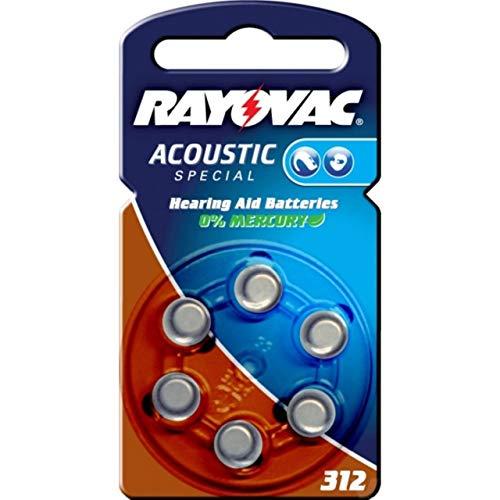 Rayovac Extra Advanced Hörgerätebatterie Typ 312 6er Blister, Zink-Luft, 1,4V