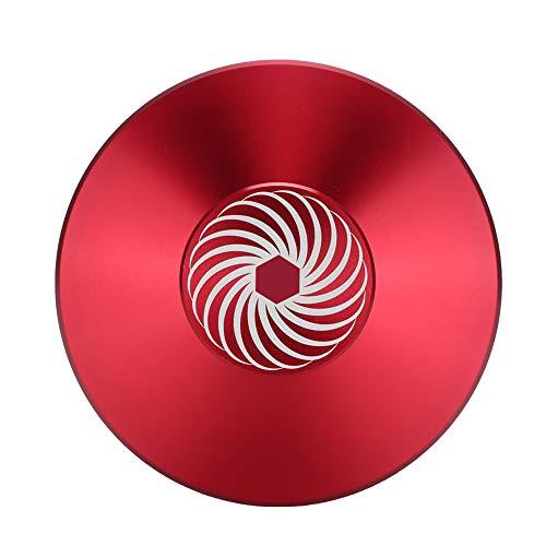 Weikeya Plaque tournante Métal Disque Stabilisateur pour Joueur, Pression Plaque Vinyle Enregistrer Serrer Zinc Alliage Enregistrer Poids Serrer Zinc Alliage Fait(Rouge)