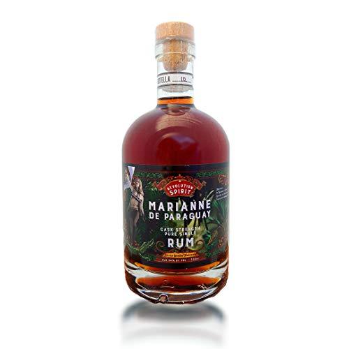 Marianne de Paraguay, 54% Alkohol, Cask Strength Over Proof Rum, handgefertigt aus Paraguay, gereift auf natürlicher Eiche, Craft-Rum, ohne Zusatzstoffe (1 x 0.7 l)