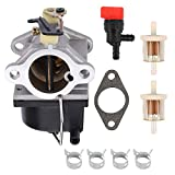 POEMQ 640065A Carburetor Replace Tecumseh 640065 Fits OHV110 OHV115 OHV120 OHV125 OHV130 OHV135 4-Cycle Vertical Shaft Engine with Gasket Fuel Filter Shut Off Valve Clamps