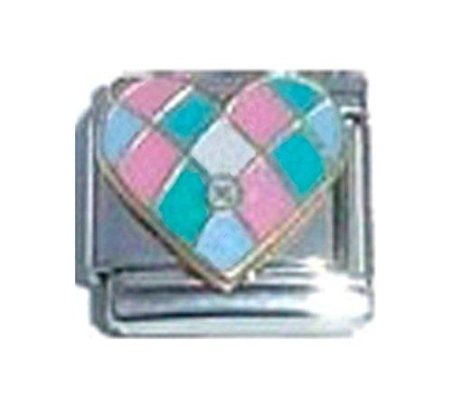 Colcha de retales Love corazón esmalte encanto italiano 9mm–1x lv112solo enlace pulsera