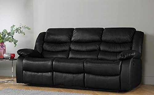 DProT Recliner Sofa Leather bonded Reclining Lazyboy Sofa Suite Sofas Chair 3 2 or 1 (3 Seater Sofa)