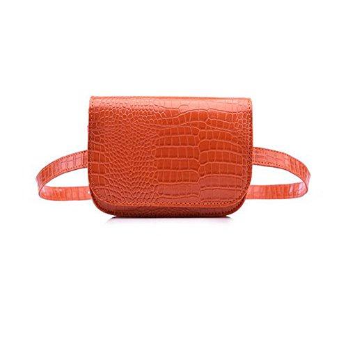 Umily Mujeres Patrón de cocodrilo Riñonera Niñas Paquetes de Cintura Fanny Pack Celular Mini Bolso de Cintura Multifunción de Cuero Bolsa de Cinturón para Regalo de Las Mujeres