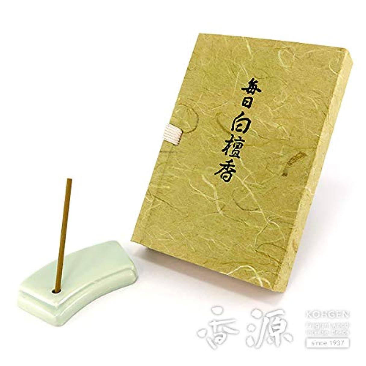 空膿瘍大通り日本香堂のお香 毎日白檀香 スティックミニ寸文庫型60本入り