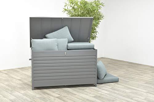 Garden Impressions Voll-Aluminium XXL Aufbewahrungsbox Blakes Cambridge mit Gasdruckfeder, 1600 Liter