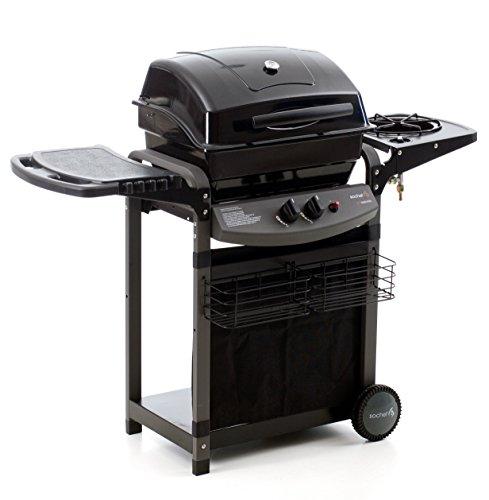 Sochef Piùsaporillo Barbecue, Sistema di Cottura a Pietra Lavica, Nero, 52x122x103 cm