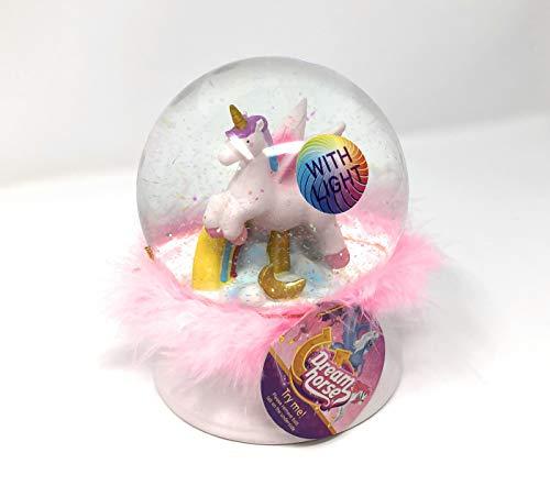 Toi-Toys Einhorn Schneekugel LED beleuchtet 13cm inkl. Batterien (Pink)