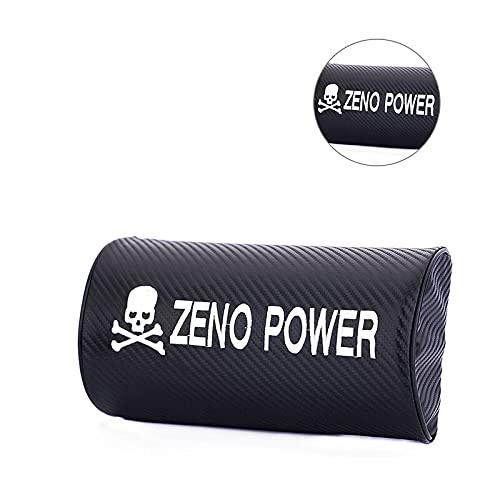 AOWIFT 2 unids fibra de carbono ZENO POWER cráneo hueso coche auto reposacabezas almohada asiento cojín