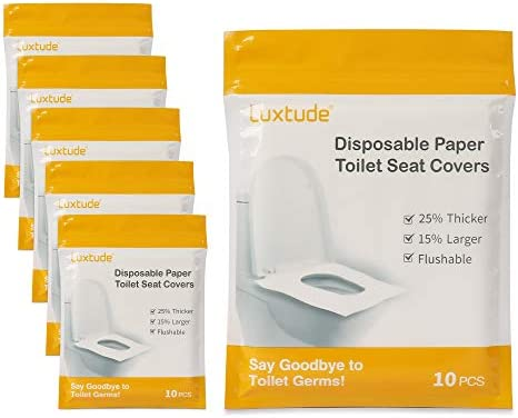 Luxtude Toilet Seat Covers Disposable 6 Pack of 60 Flushable Toilet Seat Cover 25 Thicker 15 product image