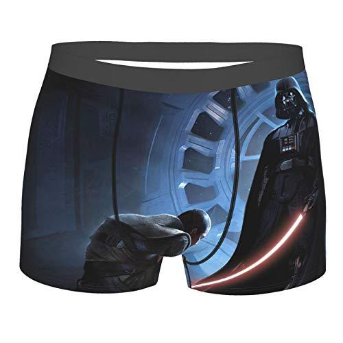 DHFDH Star Yoda Wars - Calzoncillos para hombre, calzoncillos tipo bóxer, elásticos, pantalones cortos y transpirables, cómodos.