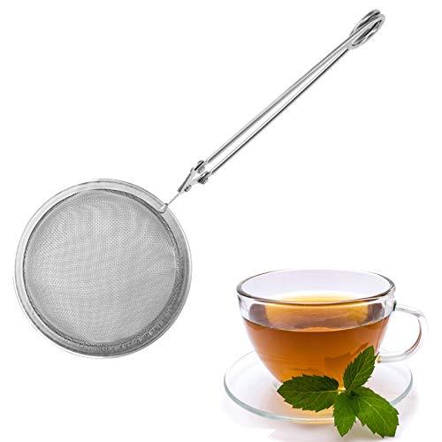 Westmark Klappsieb/Tee-Sieb, Durchmesser: 6,5 cm, Rostfreier Edelstahl, Teatime, Silber, 15342270