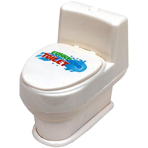 Spritztoilette spritzende Toilette Scherzartikel WC Partygag Geschenk gegen Neugier Spritzpistole Wasserspritze