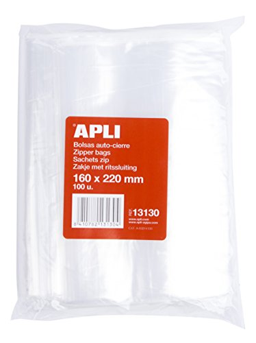 APLI 13130 - Bolsa de Autocierre, Paquete de 100 Unidades